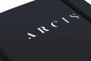 Arcis Journal Writing Notebook Black Durable Cover