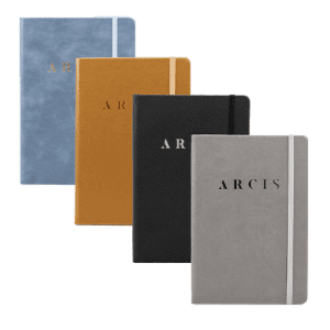 Arcis a5 notebook combined colourways plain lined